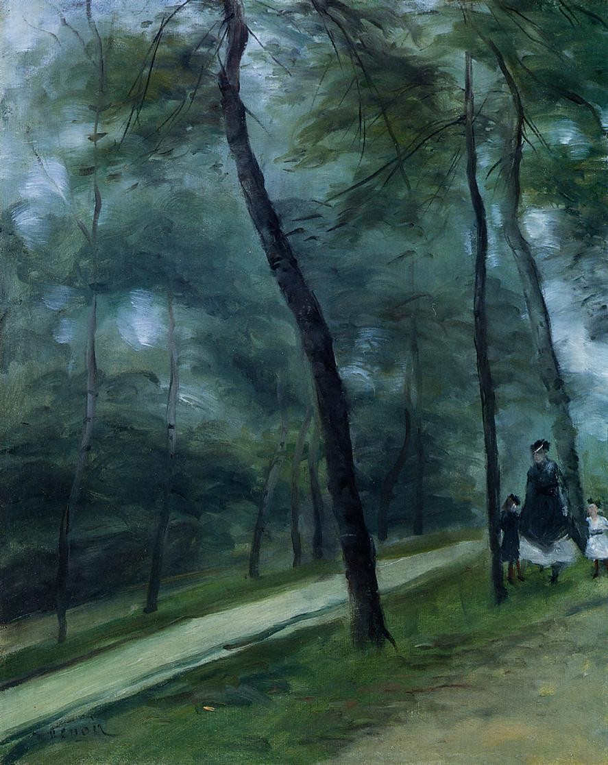 A Walk in the Woods (also known as Madame Lecoeur and Her Children), Pierre Auguste Renoir